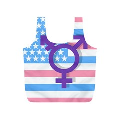 Transgender Flag Full Print Recycle Bags (s)  by Valentinaart