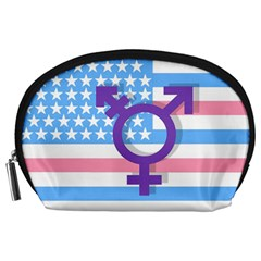 Transgender Flag Accessory Pouches (large)  by Valentinaart