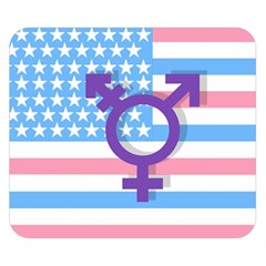 Transgender Flag Double Sided Flano Blanket (small)  by Valentinaart
