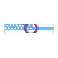 Transgender Flag Flano Scarf (mini) by Valentinaart