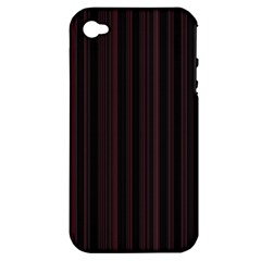 Lines Pattern Apple Iphone 4/4s Hardshell Case (pc+silicone) by Valentinaart