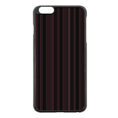 Lines Pattern Apple Iphone 6 Plus/6s Plus Black Enamel Case by Valentinaart