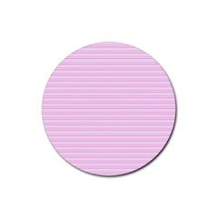 Lines Pattern Rubber Coaster (round)  by Valentinaart