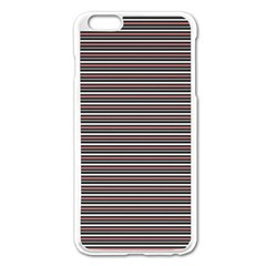 Lines Pattern Apple Iphone 6 Plus/6s Plus Enamel White Case