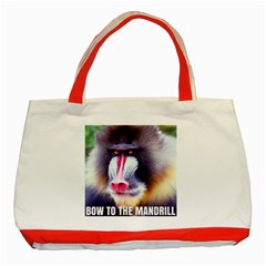 Bow To The Mandrill Classic Tote Bag (red) by RakeClag