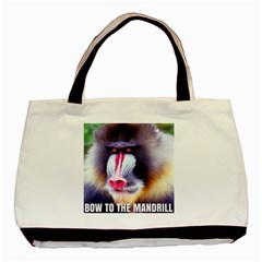 Bow To The Mandrill Basic Tote Bag (two Sides) by RakeClag