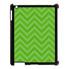 Zigzag  Pattern Apple Ipad 3/4 Case (black) by Valentinaart