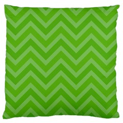 Zigzag  Pattern Large Flano Cushion Case (one Side)