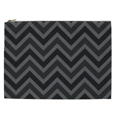 Zigzag  Pattern Cosmetic Bag (xxl)  by Valentinaart