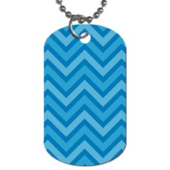 Zigzag  Pattern Dog Tag (two Sides) by Valentinaart