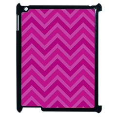 Zigzag  Pattern Apple Ipad 2 Case (black) by Valentinaart