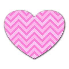 Zigzag  Pattern Heart Mousepads by Valentinaart