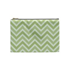 Zigzag  Pattern Cosmetic Bag (medium)  by Valentinaart