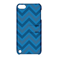Zigzag  Pattern Apple Ipod Touch 5 Hardshell Case With Stand by Valentinaart
