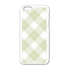 Zigzag  Pattern Apple Iphone 6/6s White Enamel Case
