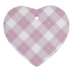 Zigzag Pattern Heart Ornament (two Sides)