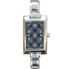 Zigzag Pattern Rectangle Italian Charm Watch by Valentinaart