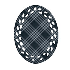 Zigzag Pattern Oval Filigree Ornament (two Sides) by Valentinaart