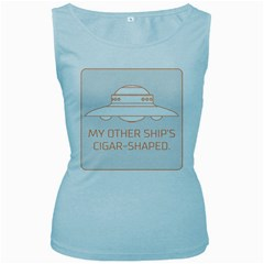 My Other Ship s Cigar Shaped Women s Baby Blue Tank Top by RakeClag