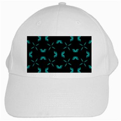 Background Black Blue Polkadot White Cap by Mariart