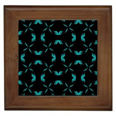 Background Black Blue Polkadot Framed Tiles by Mariart