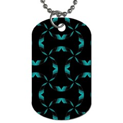 Background Black Blue Polkadot Dog Tag (two Sides) by Mariart