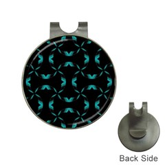 Background Black Blue Polkadot Hat Clips With Golf Markers by Mariart