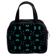 Background Black Blue Polkadot Classic Handbags (2 Sides) by Mariart
