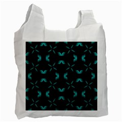 Background Black Blue Polkadot Recycle Bag (one Side) by Mariart