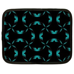 Background Black Blue Polkadot Netbook Case (xl)  by Mariart
