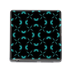 Background Black Blue Polkadot Memory Card Reader (square)