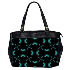 Background Black Blue Polkadot Office Handbags (2 Sides)  by Mariart