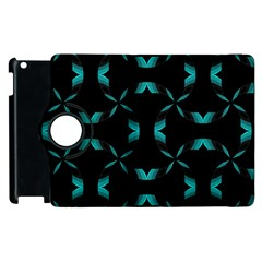 Background Black Blue Polkadot Apple Ipad 3/4 Flip 360 Case by Mariart