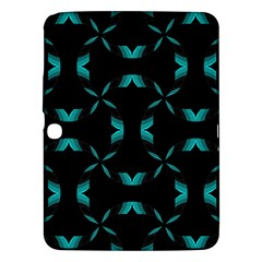 Background Black Blue Polkadot Samsung Galaxy Tab 3 (10 1 ) P5200 Hardshell Case