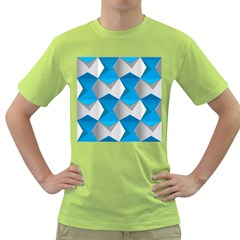 Blue White Grey Chevron Green T Shirt by Mariart