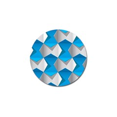Blue White Grey Chevron Golf Ball Marker (4 Pack) by Mariart