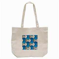 Blue White Grey Chevron Tote Bag (cream) by Mariart