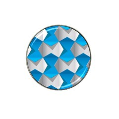 Blue White Grey Chevron Hat Clip Ball Marker (4 Pack) by Mariart