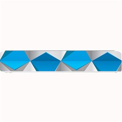 Blue White Grey Chevron Small Bar Mats by Mariart