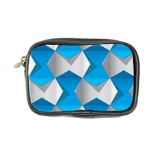 Blue White Grey Chevron Coin Purse by Mariart