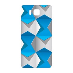 Blue White Grey Chevron Samsung Galaxy Alpha Hardshell Back Case by Mariart