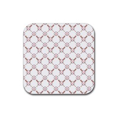 Baseball Bat Scrapbook Sport Rubber Coaster (square)  by Mariart