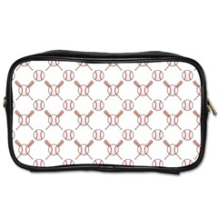 Baseball Bat Scrapbook Sport Toiletries Bags 2 Side by Mariart