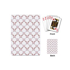 Baseball Bat Scrapbook Sport Playing Cards (mini)  by Mariart