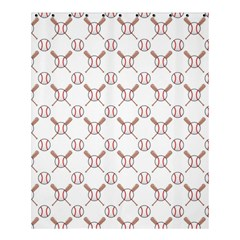 Baseball Bat Scrapbook Sport Shower Curtain 60  X 72  (medium)  by Mariart