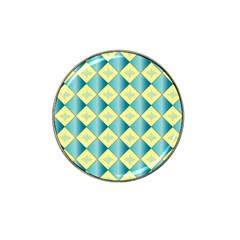 Yellow Blue Diamond Chevron Wave Hat Clip Ball Marker (10 Pack) by Mariart