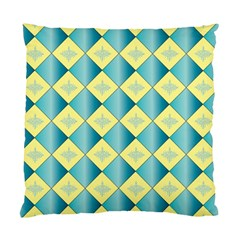 Yellow Blue Diamond Chevron Wave Standard Cushion Case (two Sides) by Mariart