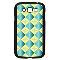 Yellow Blue Diamond Chevron Wave Samsung Galaxy Grand Duos I9082 Case (black) by Mariart