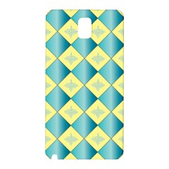 Yellow Blue Diamond Chevron Wave Samsung Galaxy Note 3 N9005 Hardshell Back Case by Mariart