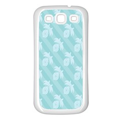 Christmas Day Ribbon Blue Samsung Galaxy S3 Back Case (white) by Mariart